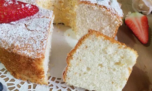 TORTA CIAMBELLA ANGEL CAKE dolce soffice di soli albumi