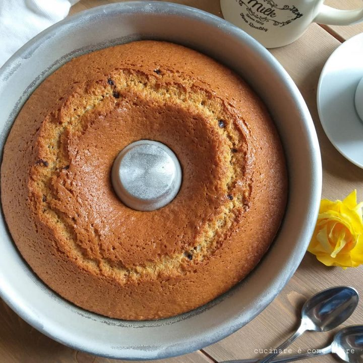 torta ciambella con miele integrale dolce soffice