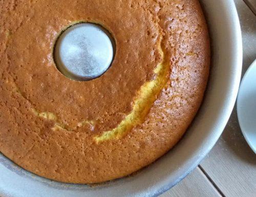 TORTA CIAMBELLA SENZA LATTOSIO dolce all'arancia