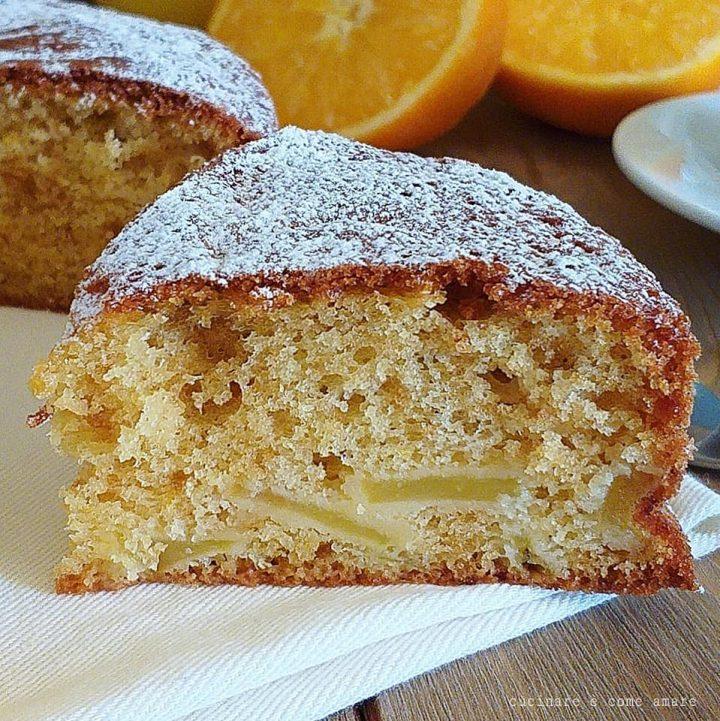 torta con pere e arancia dolce soffice