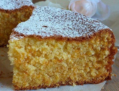 TORTA PAN ARANCIA E MANDORLE dolce soffice