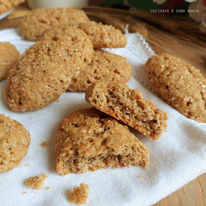 biscotto antico integrale senza lievito ricetta della nonna