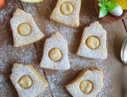BISCOTTO CAMPANA DI PASQUA dolce ripieno crema al limone