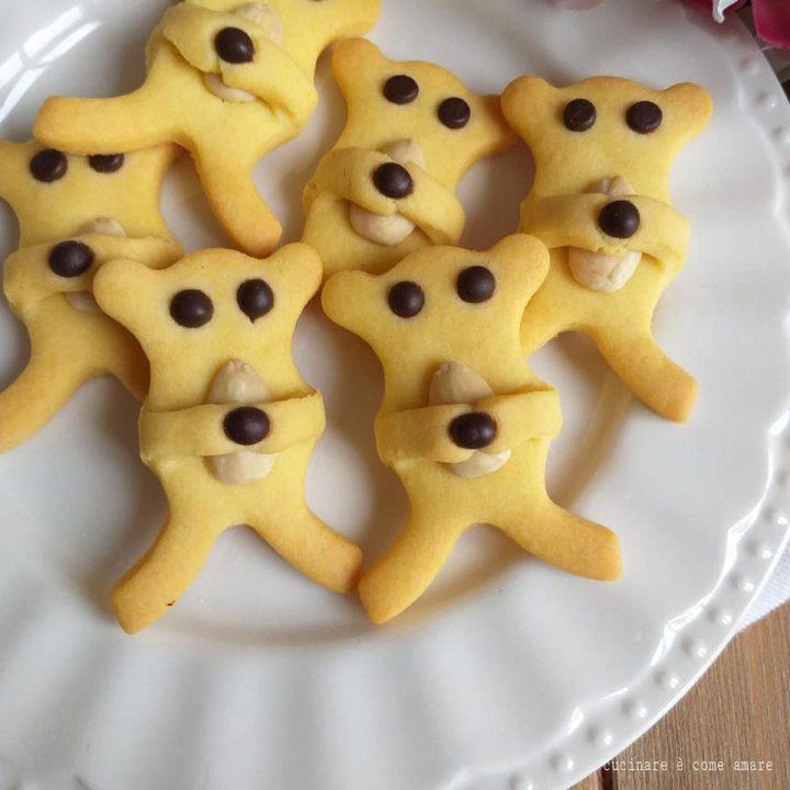 biscotto orsetto con mandorla e cioccolato