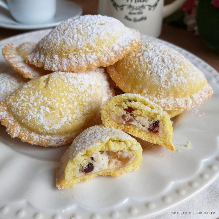 biscotto raviolo gusto cassata ripieno ricotta