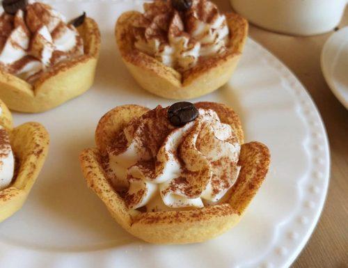 CESTINI CROSTATINA TIRAMISU' dolce ripieno crema mascarpone