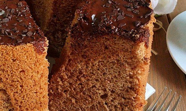 CIAMBELLA CHIFFON CAKE CAFFE' E CACAO dolce soffice