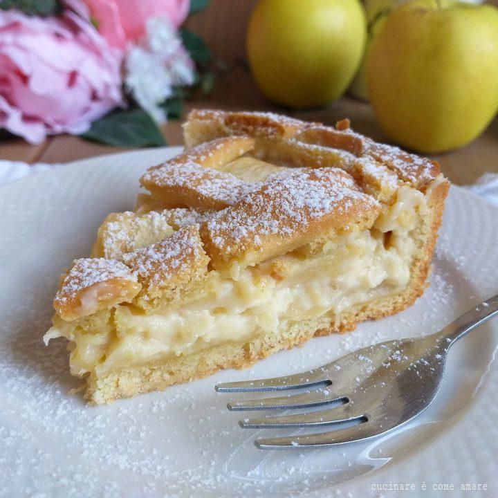 Ricetta Della Nonna Crema Pasticcera.Torta Crostata Crema E Mele Dolce Ricetta Della Nonna Cucinare E Come Amare
