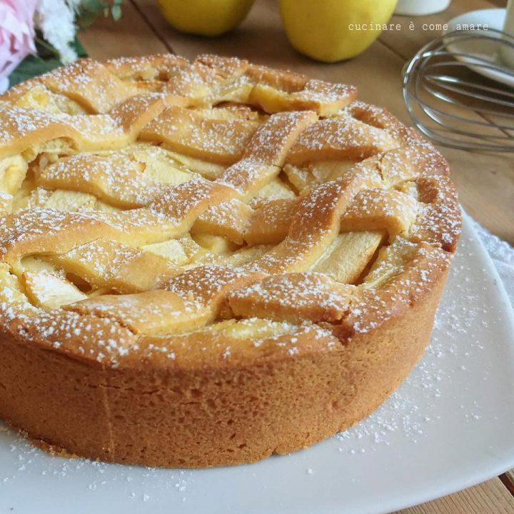 torta crostata melosa della nonna dolce ripieno mele