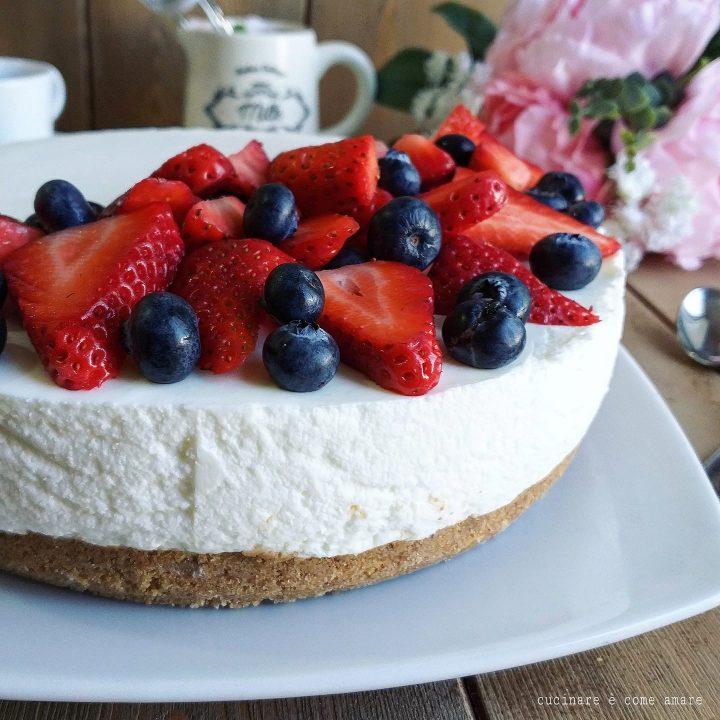 torta fredda yogurtcake dolce con yogurt e panna