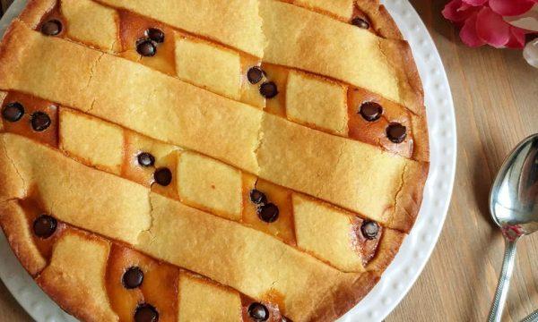 TORTA PASTIERA RICOTTA E CIOCCOLATO dolce ripieno
