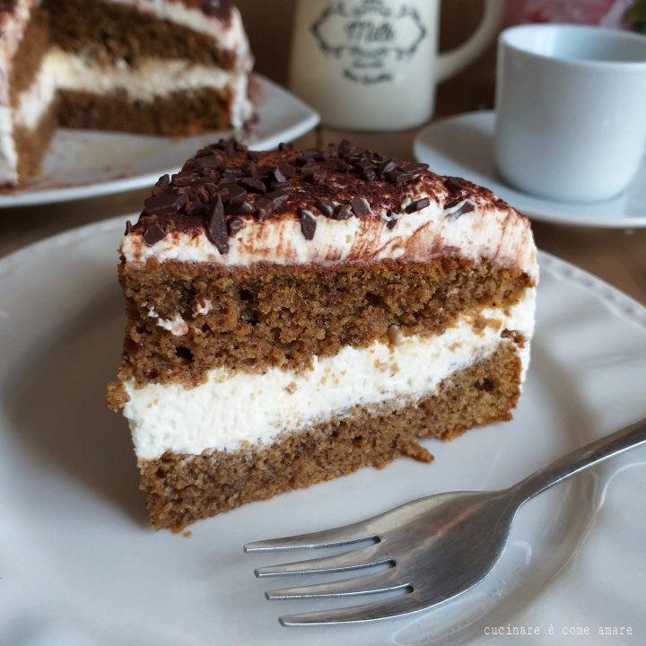Ricetta Tiramisu Al Caffe E Panna.Torta Tiramisu Facile Dolce Ripieno Caffe E Mascarpone Cucinare E Come Amare