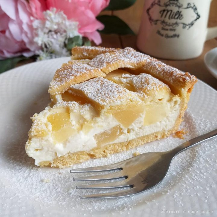 torta crostata pere e ricotta dolce ripieno