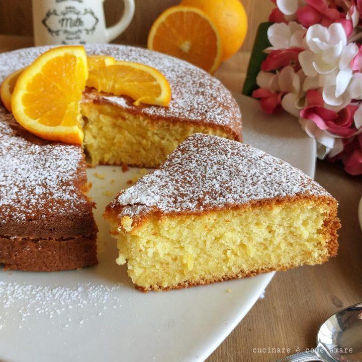 torta facile yogurt e arancia dolce soffice