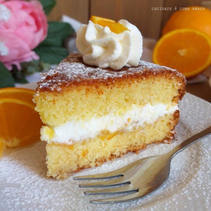torta paradiso all'arancia dolce goloso e ripieno