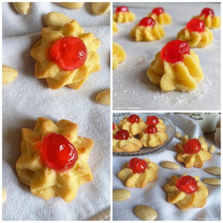 biscotti dolcetti da pasticceria al burro e mandorla
