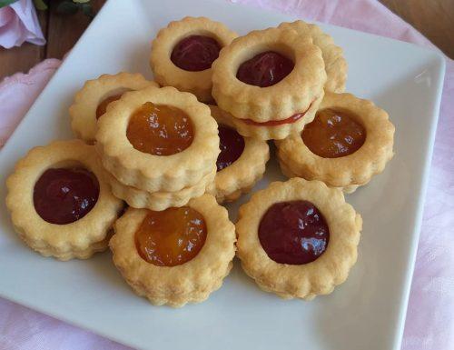 BISCOTTI FROLLINI FACILI dolce ripieno marmellata