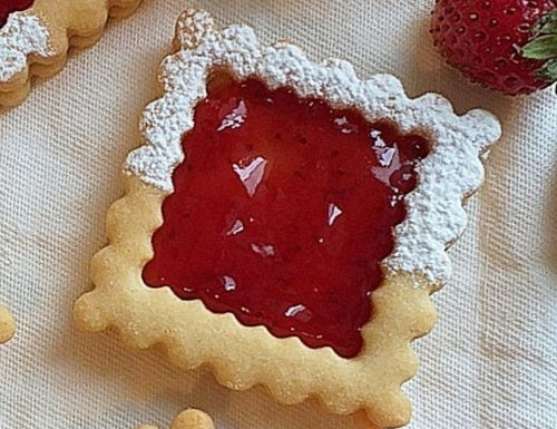BISCOTTO BISCOTTONE QUADROTTO dolce ripieno marmellata