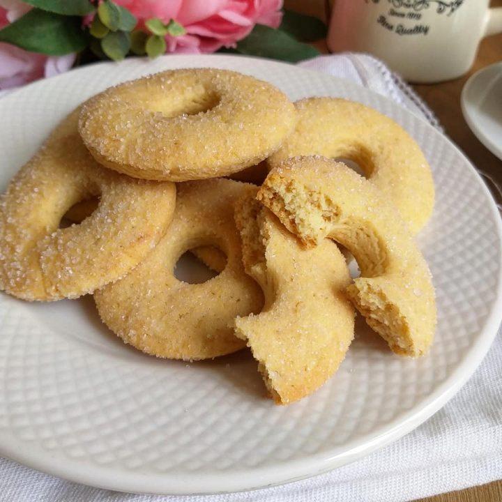 biscotto ciambelline all'olio dolce da inzuppo senza burro