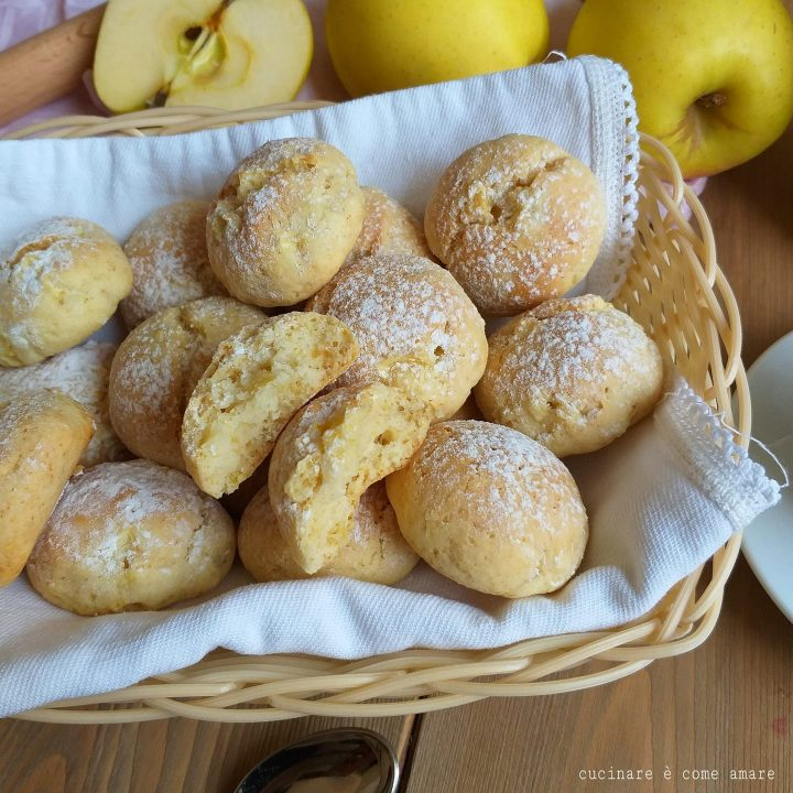 biscotto morbidoso alle mele dolce senza burro