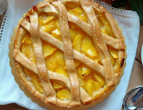 CROSTATA FACILE ALLE PESCHE dolce ripieno frutta fresca