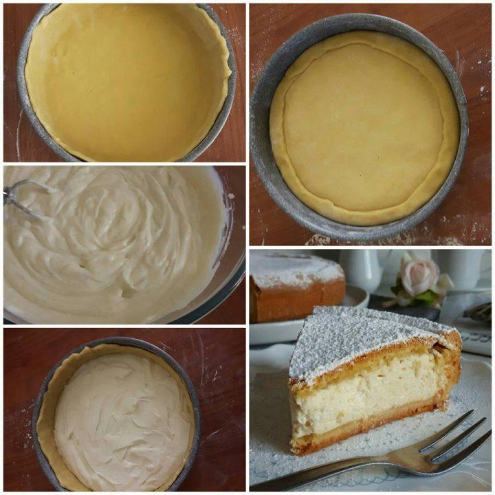 impasto torta pasticciotto con ricotta dolce cremoso ripieno