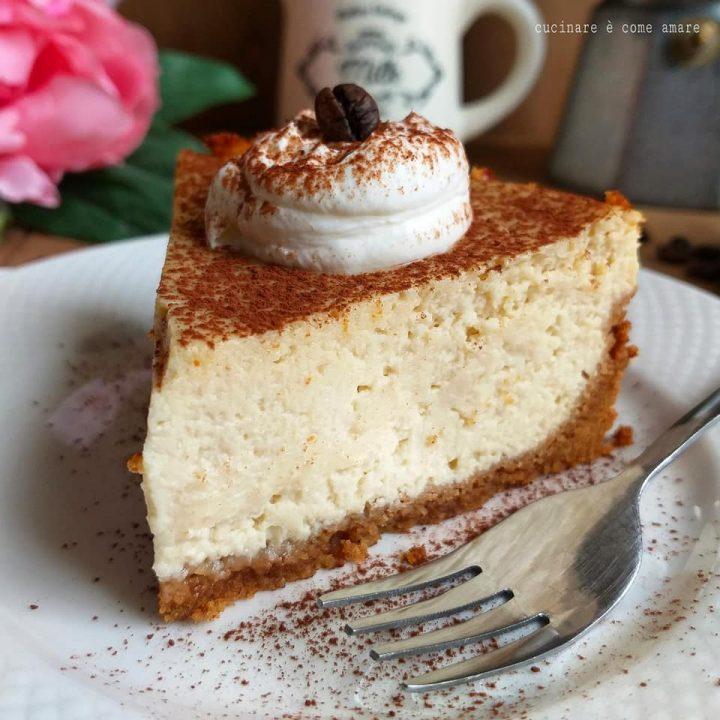 torta cappuccino cheesecake dolce cremoso caffe' e ricotta