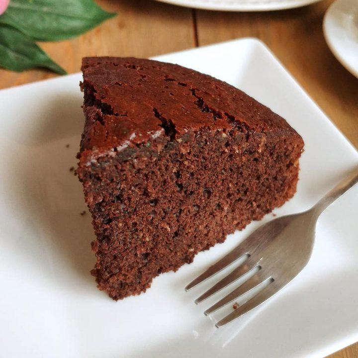 torta soffice cocco e cacao dolce senza burro