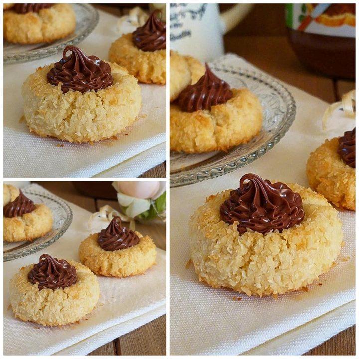 biscotti golosi cocco e nutella dolce ricetta facile