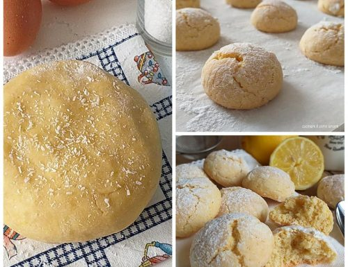 BISCOTTI MORBIDOSI COCCO E LIMONE dolce ricetta facile