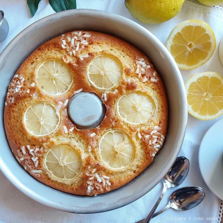 ciambella al limone della nonna con yogurt senza burro