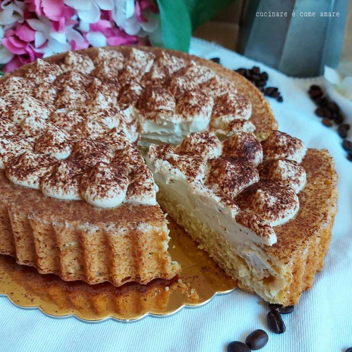 crostata morbida tiramisu' dolce ripieno crema mascarpone