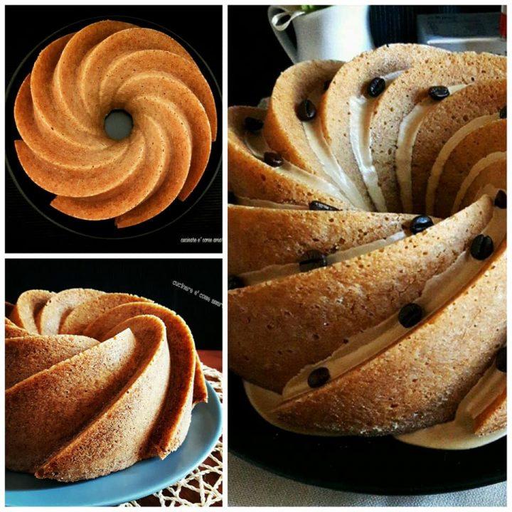 torta ciambellone al caffe' dolce soffice senza burro
