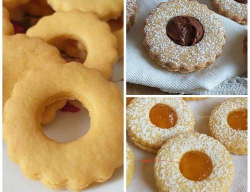 BISCOTTI FROLLINI OCCHIDIBUE ripieni nutella e marmellata