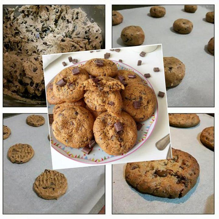 biscotti perfetti tipo cookies con cioccolato