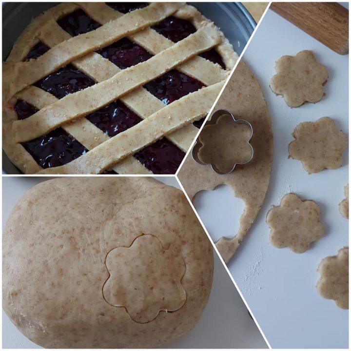 crostata e biscotti integrali con impasto frolla perfetta