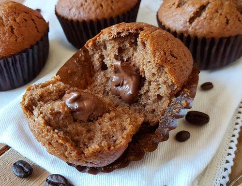 MUFFIN AL CAFFE' CUORE NUTELLA dolce ripieno