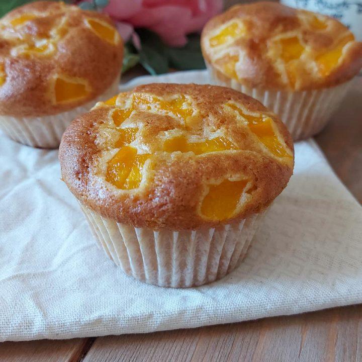muffin nuvolette con pesche dolce senza burro