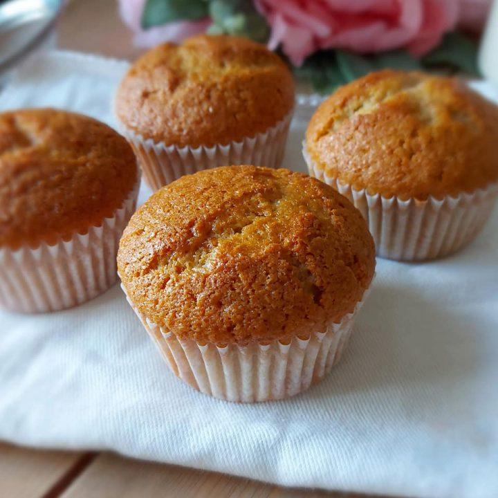 muffin tortina integrale con miele dolce senza burro