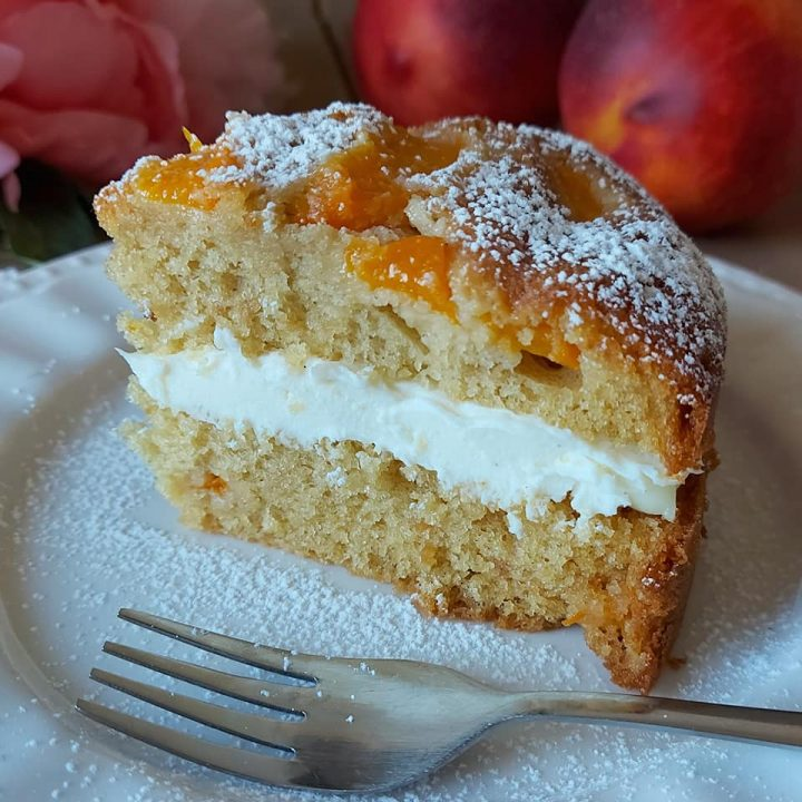 torta paradiso alle pesche dolce ripieno