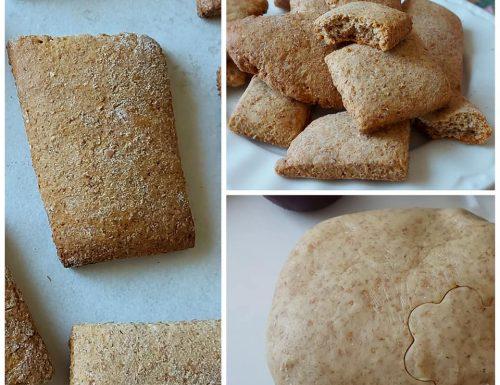 BISCOTTI COLAZIONE FACILI con farina integrale e senza burro