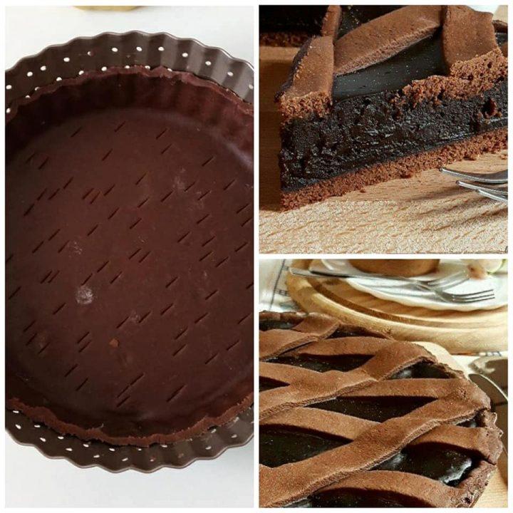crostata favolosa al cioccolato dolce ripieno