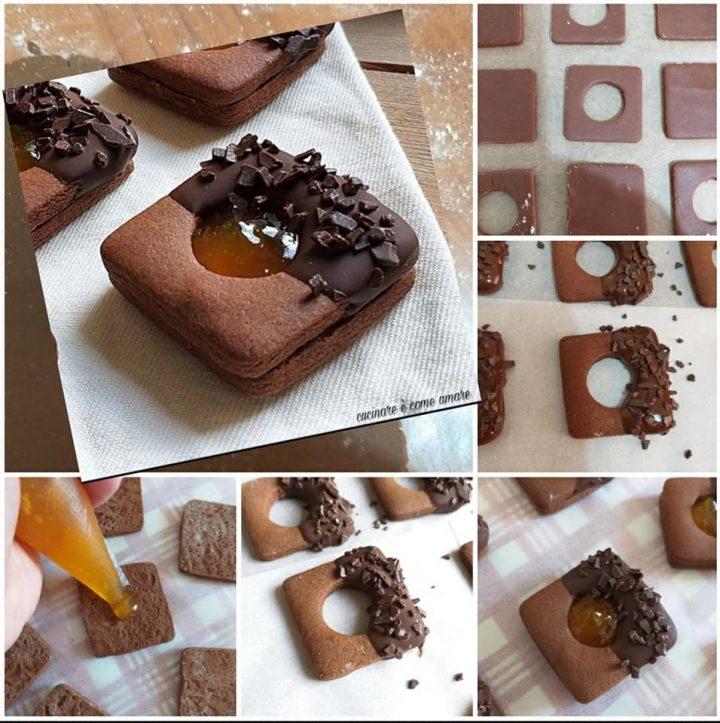 impasto tutorial biscotti sacher con cacao e marmellata