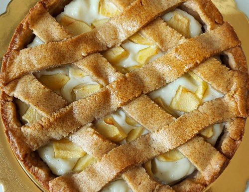 CROSTATA INTEGRALE RICOTTA E PERE dolce ricetta facile