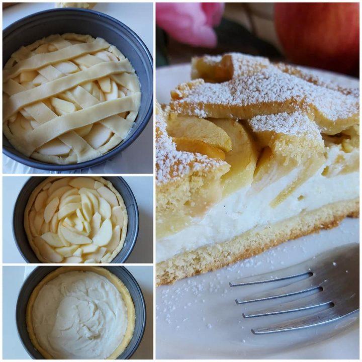impasto crostata mele e ricotta dolce ripieno