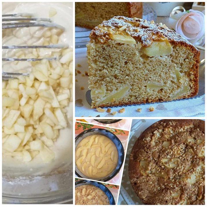 torta melotta della nonna dolce con mele e senza burro