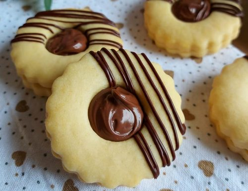 BISCOTTO PERFETTO DA PASTICCERIA dolce ripieno nutella