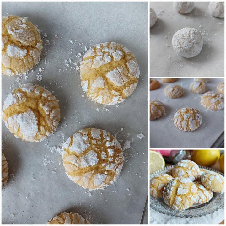 impasto biscotti nuvole al limone dolce morbido