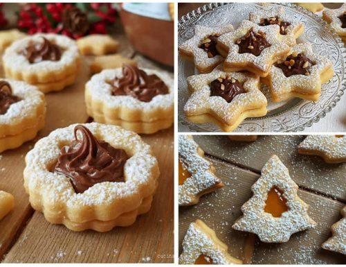 BISCOTTI FROLLINI NATALIZI dolce ripieno nutella o marmellata