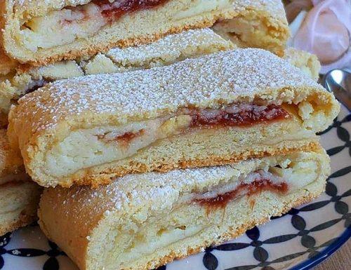 BISCOTTO ARROTOLATO CREMA MARMELLATA dolce ripieno cremoso